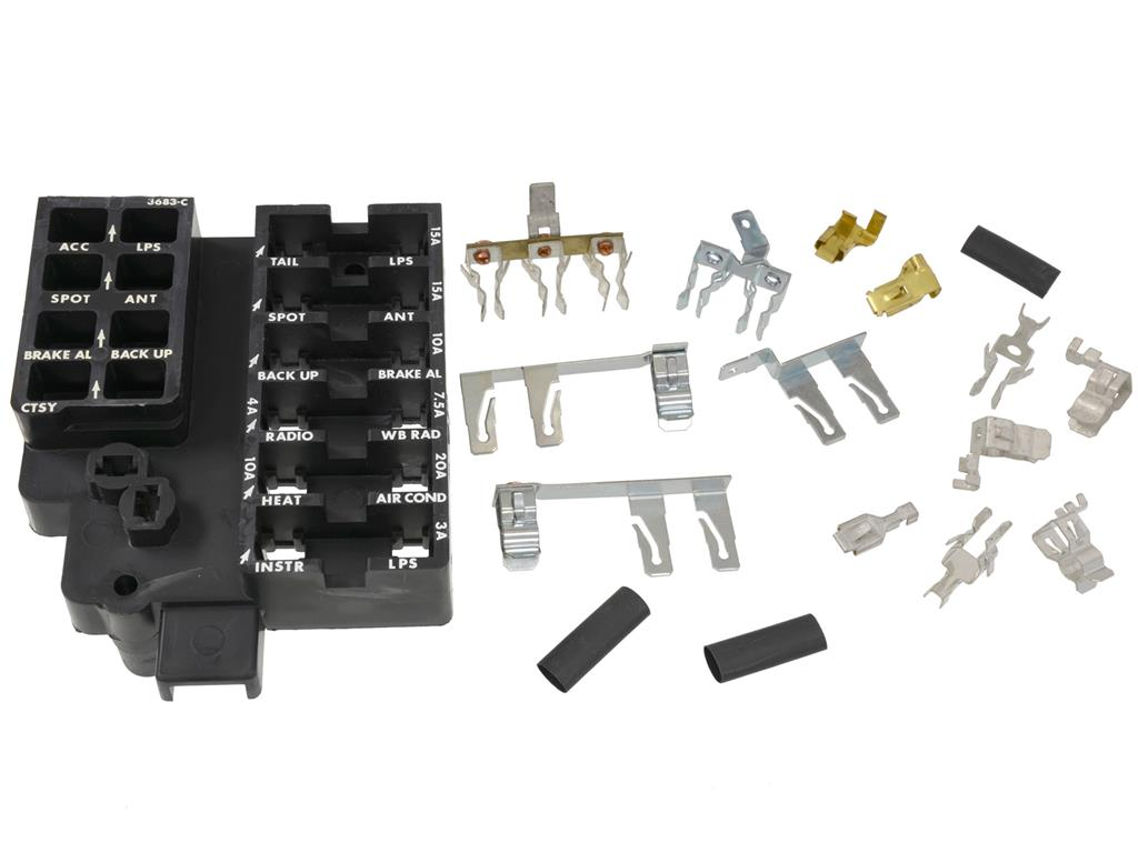 58 62 Fuse Block With Buss Bars And Clips Corvette Central Automotive Box Back 661005 661005main1